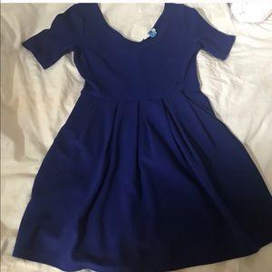 Nordstrom Blue Fit & Flare Dress